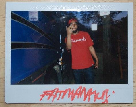 Polaroid of FatManKey by Jesse Wiles.