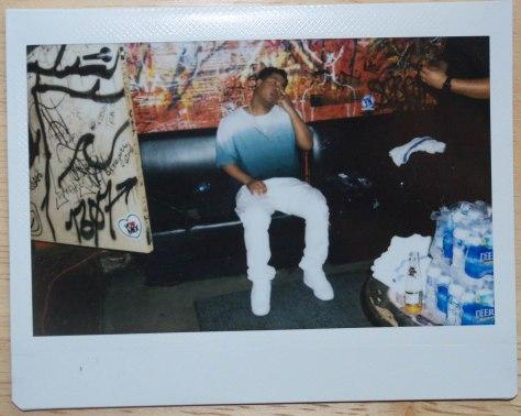 Polaroid of Makonnen by Jesse Wiles.